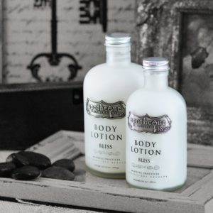 body lotion pewter label