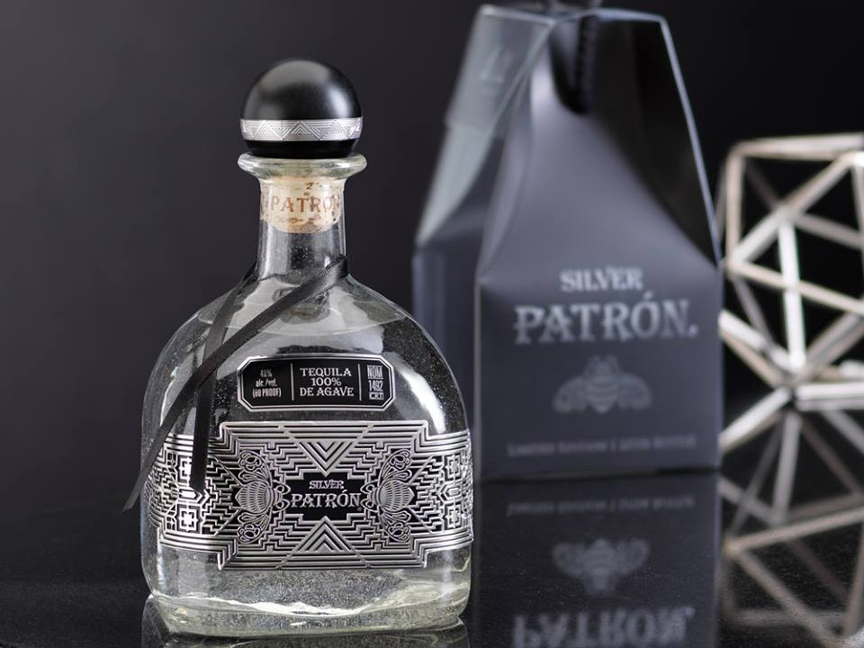 pewter label tequila patron