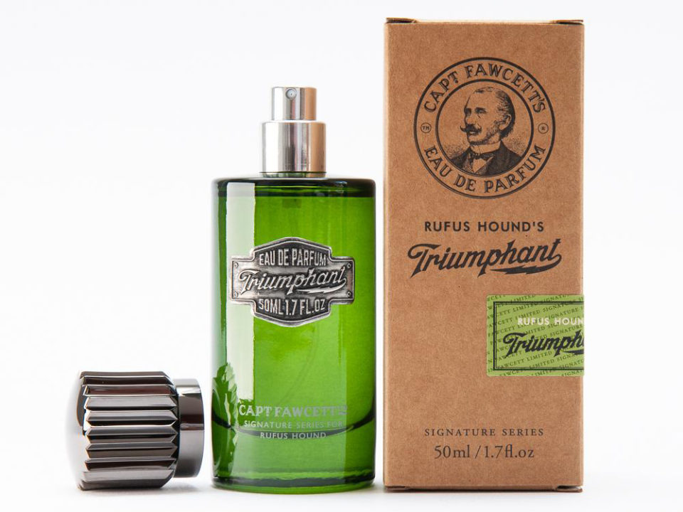 premium pewter label captain fawcett